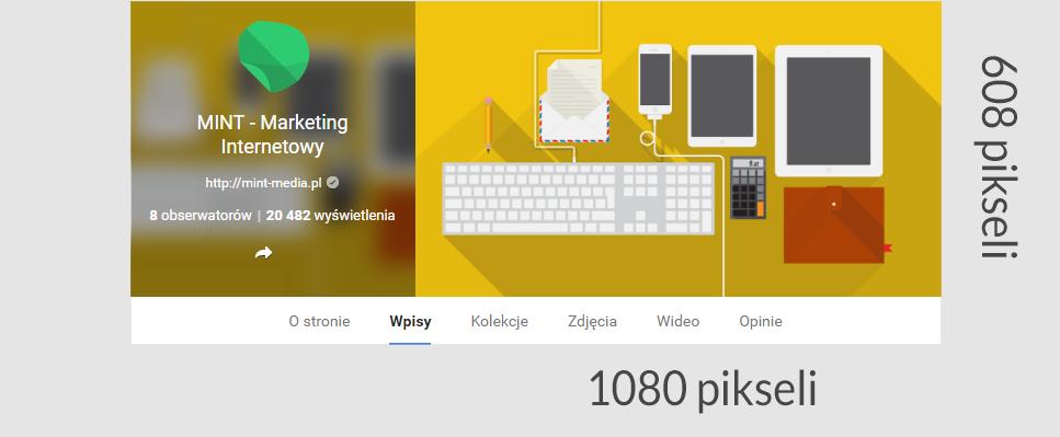 Rozmiar zdjęcia na okładkę Google Plus