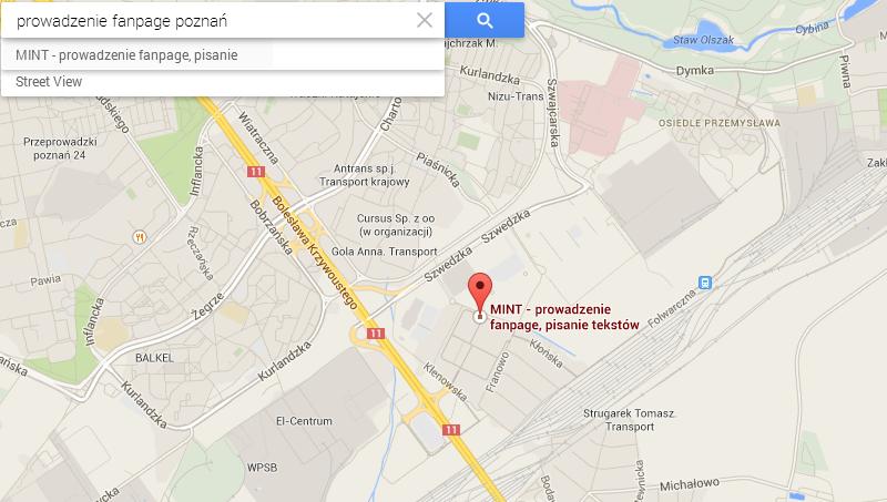 wizytówki google lokalnie