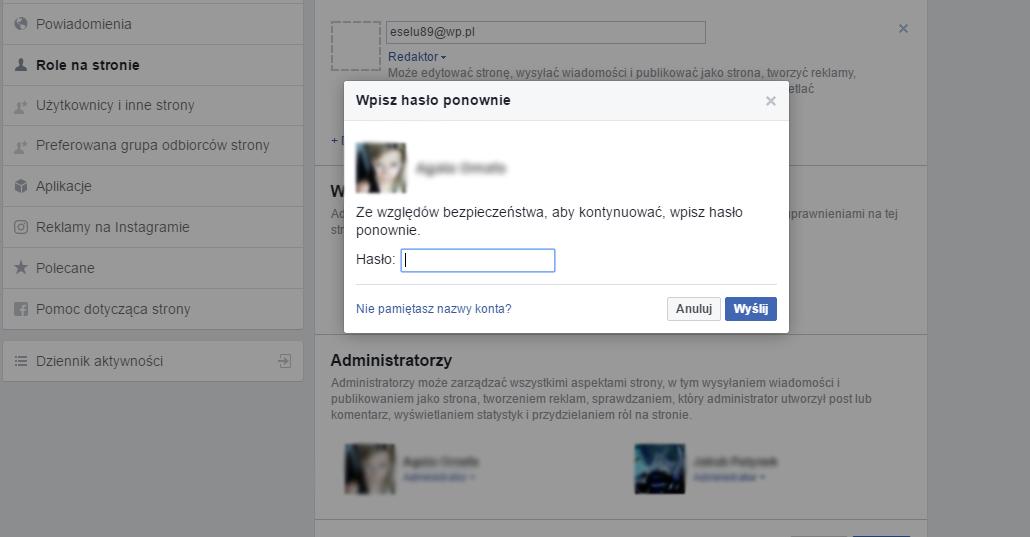 jak dodać administratora strony na Facebooku